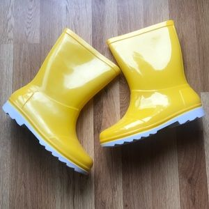 Kids Toms Yellow Rain Boots Youth 1